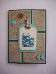 Grußkarte Design Stampin'Up m. Umschlag von *Dekor Malerei* auf DaWanda.com