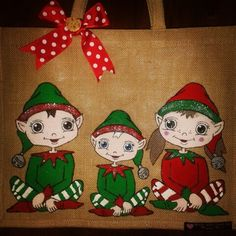 Gorgeous elf jutebag #elfrocks #elflife #elfontheshelf ♡