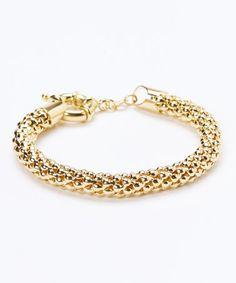 Look what I found on #zulily! Gold Popcorn Mesh Bracelet #zulilyfinds