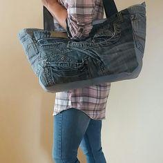 Óriási farmer táska, jól pakolható...