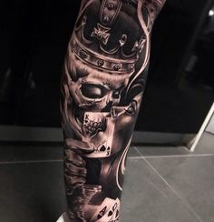 Dope piece by For Features click our bio👈 Forarm Tattoos, Chicano Tattoos, Dope Tattoos, Badass Tattoos, Leg Tattoos, Body Art Tattoos, Tattoos For Guys, Gangster Tattoos, Skull Sleeve Tattoos