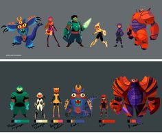 Artes da produção de Big Hero 6, da Disney | THECAB - The Concept Art Blog