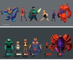 Artes da produção de Big Hero 6, da Disney | THECAB - The Concept Art Blog