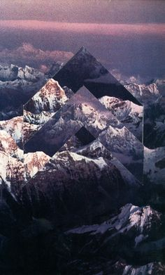 Liam Wylie - Collage of Mountains (very geometric art)