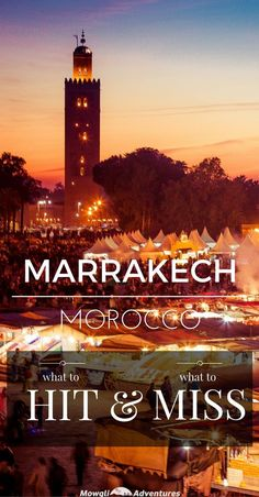 Morocco Travel Inspiration - There's so many things to do in Marrakech, it's impossible to see it all in a weekend. So we've put together a guide on what to hit and what to miss.