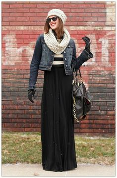 Art Symphony: Winter Maxi Skirts