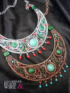 Create the hryvnia and a necklace in the ethnic style. We work in the art wire wrap - Fair Masters - handmade, handmade