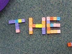 Using Unifix cubes in the classroom with I Can charts free printables.