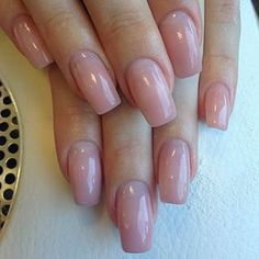 nude natural acrylic nails - Google Search
