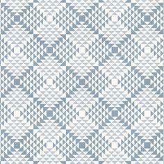 Free Spirit – Pyramids 4 - Baumwolle - blaugrau