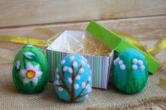 Easter Egg Needle Felted Easter Ornaments Easter Decoration