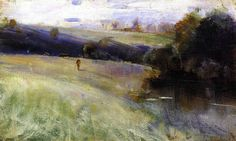 Australian Landscape Painting by Charles Conder