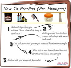 How To Pre-Poo - BHI Postcard Tips  Read the article here - http://www.blackhairinformation.com/our-newsletters/postcard-tips/how-to-pre-poo-bhi-postcard-tips/