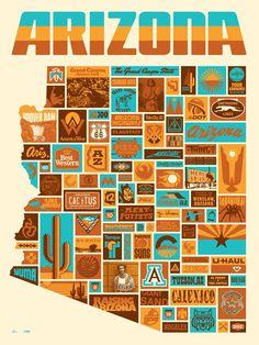 """70's looking """"Always Arizona"""" poster"""