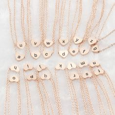 """Collier Femme Lowercase Letters """"a b c e f g h i j k l m n o p q r s t u v w x y z """" Heart Pendant Necklaces For Women Jewelry"""