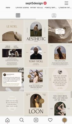 With these creative design templates, you can easily upgrade your social media profile or page in a stylish and professional way. These design templates are perfect for Authors, Writers, Poets, Bloggers, Storytellers, and all other creative minds.   #instagramfeedideas #instagramfeed #istafeed #instagramdesign #instagramtemplates #socialmediadesign #socialmediatemplates #writers #poets #authors #aesthetic #poetry #quotedesign #instagramaesthetic #aestheticinstagram #aesthetics… Instagram Feed Layout, Feeds Instagram, Instagram Grid, Instagram Design, Photo Instagram, Web Design, Creative Design, Graphic Design Posters, Graphic Design Inspiration