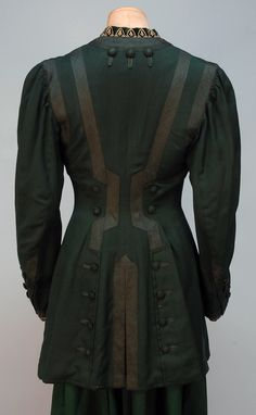 Herringbone Weave Wool Walking Suit, c. 1905