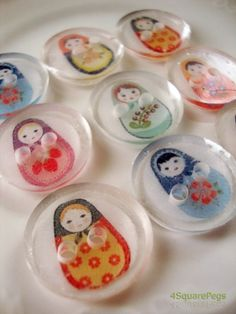 "create your own ""shrinky dink"" buttons: #6 plastic, hole punch, and decorate w/ fine tip sharpie"