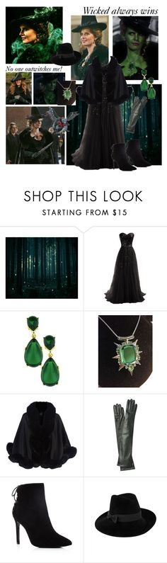 """""""Zelena (The Wicked Witch of the West)"""" by greerflower ❤ liked on Polyvore featuring Once Upon a Time, Flying Monkey, Harrods, Rochas, Charles David and Mademoiselle Slassi"""