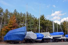 """Wet or Dry Storage? - """"One of the best ways to store your boat is by utilizing dry storage to extend its value and protect your investment. Winterize Boat, Boat Safety, Boat Covers, Self Storage, Boating Outfit, Wet And Dry, Outdoor Entertaining, Outdoor Gear, Patio"""