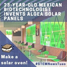 Connect a STEM activity to the real world! Adán Ramirez Sánchez, a 23-year-old Mexican biotechnologist invented Intelligent Solar Biopanels made of microalgae and carbon nanoparticles. They generate clean energy, release oxygen, and absorb carbon dioxide through photosynthesis. Share this amazing invention with your kids and have them use the power of the sun too by making a solar oven! All you need is a box and some simple supplies then follow the instructions! Math Games For Kids, Fun Math Activities, Outdoor Activities, Stem Learning, Hands On Learning, Clean Energy Sources, Engineering Design Process, Solar Oven, Solar Car