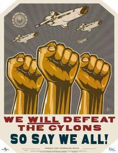 (17x22) Battlestar Galactica We Will Defeat The Cylons TV Poster Print QMX
