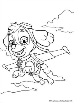 Paw Patrol Skye Is Flying Coloring Pages Printable And Book To Print For Free Find More Online Kids Adults Of
