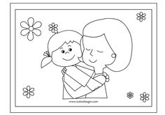 Crafts,Actvities and Worksheets for Preschool,Toddler and Kindergarten.Lots of worksheets and coloring pages. Mothers Day Coloring Pages, Coloring Pages For Kids, Diy For Kids, Crafts For Kids, Mother's Day Colors, Karla Gerard, Mothers Day Presents, Art N Craft, Craft Free