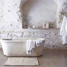 Stone Bathtub by Zara Home Bad Inspiration, Bathroom Inspiration, Interior Inspiration, Spiritual Inspiration, Writing Inspiration, Motivation Inspiration, Character Inspiration, Travel Inspiration, Fashion Inspiration