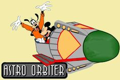 """There are twelve Astro Orbiter """"rockets"""" on the new ride with each rocket bearing the symbol of a zodiac sign, representing the astrological calendar. Description from disney-pal.com. I searched for this on bing.com/images"""
