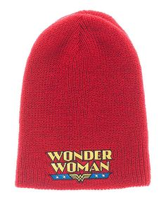 3feea5f80ca Look at this Wonder Woman Reversible Beanie on  zulily today! Beanie Hats