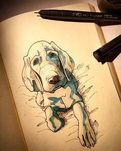 #illustration #art #drawing #artwork #dog #doodle #sketch #イラスト #アート