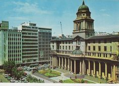 Johannesburg The City Hall 1972 Postcard South Africa 0797 Johannesburg City, Third World Countries, My Family History, Old Pictures, First World, South Africa, Afrikaans, Country, Cape Town