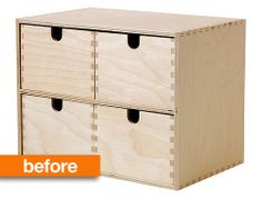 Before & After: From IKEA Basic to a Vintage-Look Card Catalog The Painted Hive  doin' it.