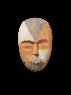 Masque anthropomorphe, Gabon, Afrique, Musée Quai Branly