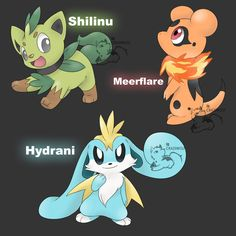 These are actually decent Fakemon They follow the style pretty well