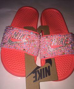 2a93e37fe72d Custom Bling Nike Flip Flop Slides Benassi