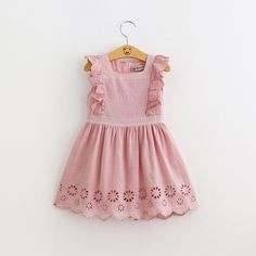 - Easy and breezy The cotton made Georgia Eyelet Ruffle Dress is an active wear that makes your kid feel easy and breezy while being in it. - Almost sleeveless to beat the heat The beautiful pink dres