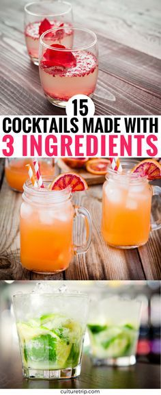 15 Stylish Cocktails Made With Only 3 Ingredients 15 Stylish Cocktails Made With Only 3 Ingredients,Drinks to try Related praktische Rezepte für Salat-to-Go - food and cocktailsHow to Photograph in Mist & Fog. Easy Drink Recipes, Alcohol Drink Recipes, Cocktail Recipes, Cocktail Drinks, Summer Cocktails, Party Drinks, How To Make Cocktails, Acholic Drinks, Cocktails Made With Vodka