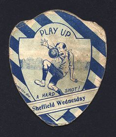 J. Baines Sheffield Wednesday football card.