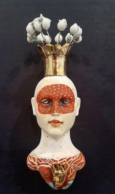 Lisa Clague - 23 Artworks, Bio & Shows on Artsy Art Corner, Guys And Dolls, Ceramic Figures, Sculpture Clay, Ceramic Sculptures, Foto Art, Weird Art, Tile Art, Portrait Art