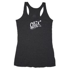 Oly Lifting Club (Handwritten) - Black - Womens Triblend Racerback Tank front