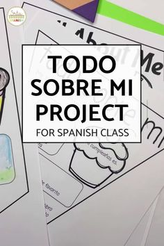 This is a great back to school activity for getting to know your Spanish students! Print and go or post and go worksheets turn into classroom decor with these Todo Sobre Mi banners! Once students are done, hang for a classroom display, bulletin board, or door decor! The digital option makes a great presentation for introductions and icebreakers. Your middle and high school students will love putting a personal touch on their space! Get To Know You Activities, First Day Of School Activities, Classroom Displays, Classroom Decor, Middle School Spanish, Spanish Lesson Plans, Back To School Night, Spanish 1, Icebreakers