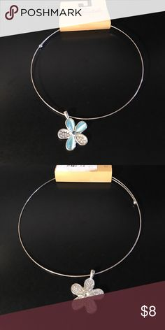 Aeropostale necklace Turquoise and silver necklace with hoop band. Aeropostale Jewelry Necklaces