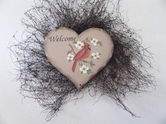 Cardinal wreath by judypope on Etsy, $12.00