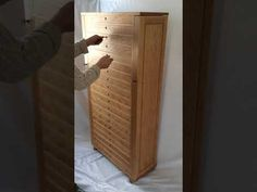 Video of the large storage tower. Woodworking Videos, Fine Woodworking, Custom Furniture, Furniture Design, Tall Cabinet Storage, Drawers, Tower, Home Decor, Bespoke Furniture
