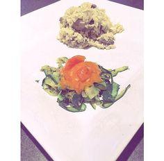 "Comfy Sunday / Fashion.Lifestyle.Foodies blog | ""Pâtes"" Zucchini , Risotto X Fromage & Champignons | Zucchini ""Pastas"" , Risotto X Cheese & Mushrooms"