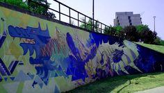 Kraków - Dębniki- mural na Bulwarze Wołyńskim.