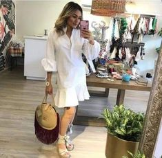 Cute Dresses, Dresses For Work, Muslim, Shirt Dress, My Style, Coat, Instagram Posts, Shirts, Flare