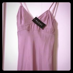 Size 2, Lavender, silk, Gucci Dress. Stunning simplicity. Never worn, tags are still attached. Gucci Dresses